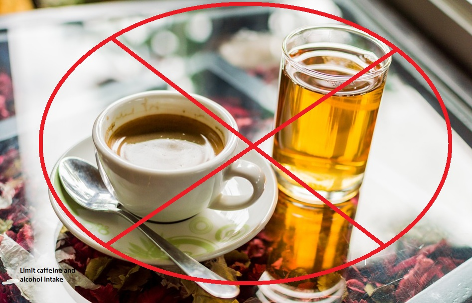 limit caffeine and alcohol intake for good sleep