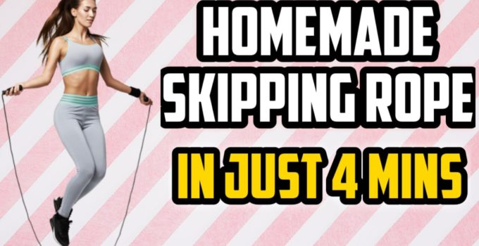 Homemade skipping rope